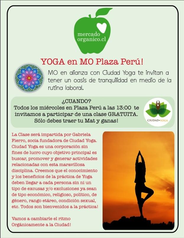 Buenas noticias: Yoga en Plaza Perú!